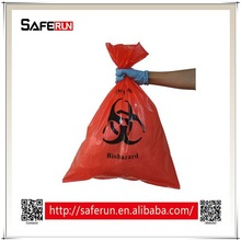 PE plastic material medical waste Biohazard Bags red bag medical waste