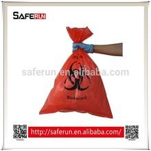 PE plastic material medical waste Biohazard Bags red bag medical waste