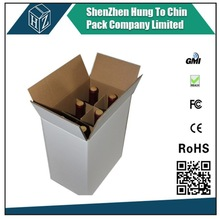 Custom design plain and color print corrugated packaging cardboard box for beer