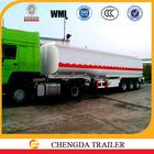 45cbm 3 axles oil tank trailer petroleum tanker truck