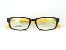 vintage retro fashion unisex age pc/plastic optical frame bamboo wooden leg reading optical glasses with case and stock