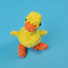 yellow duck- cheap cotton pet toy for dog made in china