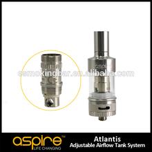 2015 stock disponible aspire atlantis tanque de diseño único aspire atlantis 0.5 ohm bobina de vapor tiburón atomizador