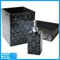 black diamond bac poubelle serviette distributeur de savon pour salle de bain ensemble