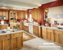 Solid wood kitchen cupboard, bright wood color
