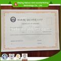 certificado de beijing para papel de diploma
