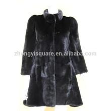 Newest updated sable fur clothing black women's mink fur jackets