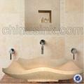 Fashional sahne kunststein waschbecken waschen, zähler nach oben marmor bathrom sinken, china manufaturer