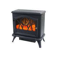 portable decor flame electric fireplace heater