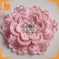 2014 venda quente lustre de cristal headbands crochet crochet e flores
