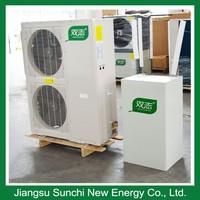 Amb.-25C winter house floor heating 100~300sq meter room 12kw/19kw/35kw high COP defrost EVI water heater with heat pump split