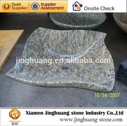 yellow granite washing basin
