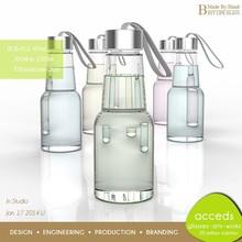 Custom Design Promotion 410Ml Juice Glass Bottle