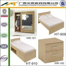 Hotel bedroom wardrobe | Oak 2 Door Sliding Mirrored Wardrobe
