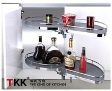 TKK Kitchen Corner Cabinet Organizers Swing Lazy Susan