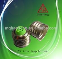 E27 welding copper plating nickel E27 lamp holder cap