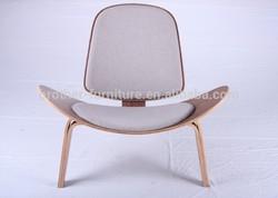 hot sell high quality replica Hans wegner shell chair wooden chair shenzhen