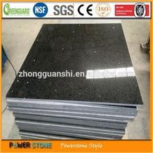 Popular Flooring Tile Black Sparkle Artificial Quartz Tile