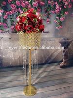 Golden Hanging Crystal Lead Road For Wedding decoration