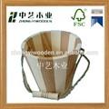 2015 year FSC y SA8000 cubo de madera con mango para made in China