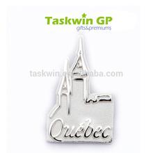 Shiny plating nickel metal stamped badge,high quality iron custom made pin dage(Irregular shape),Iron custom pin