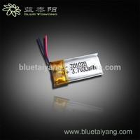 301020 30mAh Lipo Battery for Bluetooth Headset
