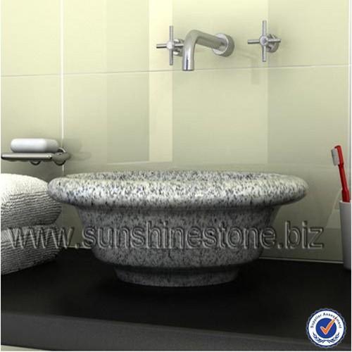 Graniet natuursteen wastafel boven gemonteerd carrara wit kunst stenen wasbak kleine badkamer - Stenen wastafel ...