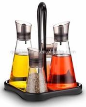 SINOGLASS 260ml non-drip silicone spout glass oil vinegar cruet