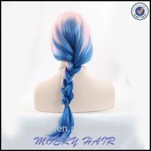 Blue Cosplay Wig Ponytail