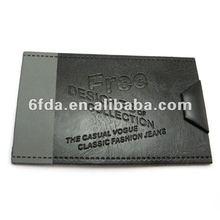 black and grey 2012 lastest fashion quality leather label