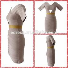 Boatneck luxuriously textured gown Beautiful mature women bandage dress fashion bodycon dress wholesale