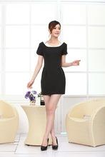 black office dress S M L XL XXL XXXL plus size for fat women