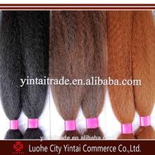 Soft Silky Jumbo Braid X-Pression, single color coarse synthetic braiding hair