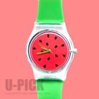U-PICK 2015 japan movt quartz watch stainless steel back wrist lady watch