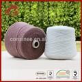 16% 84% fibre de polyamide fils de cachemire à tricoter à la main
