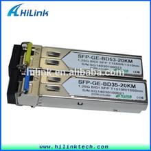 20km SFP BIDI transceivers LC/SC single core