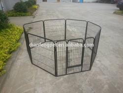 6 pcs or 8 pcs large heavy duty square tube dog kennel