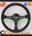 genuine leather racing steering wheel for pc