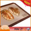 RENJIA fiberglass silicone coated baking pan,durable silicone baking sheet,eco rubber bar mat
