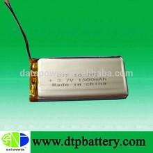 High efficient 3.7V 1500mah ultra thin lithium polymer battery