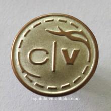 19mm brass shank button / button factory / FOSHAN CHINA factory