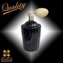 Mysterious black 450ml home decor black glass bottle perfume