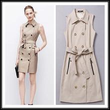 2014 Women Fashion Clothes Plus size Formal Sleeveless Business Dress Wholesale