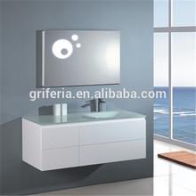 PVC + MDF bathroom cabinet with ceramic basin pvc cabinet