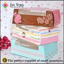 Newest Cute Custom Design Handle Food Grade Packaging Paper Cake Box