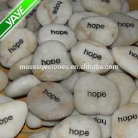 2-3cm Engraved Inspired words stone river rocks