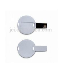 custom usb flash drive, ultra slim business card usb flash drive, round card USB pen drive