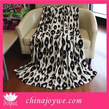 Black Leopard Point Fleece Blanket Soft Plush Animal Print Microfiber Throw Blanket