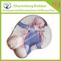 venda quente chinês nua fotos meninas 3d mouse pad de silicone