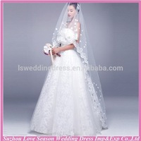 wv 11 China supplier Alibaba express free shipping worldwide ivory lace fabric women face veil